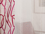Curtain vertical stripe with lead band