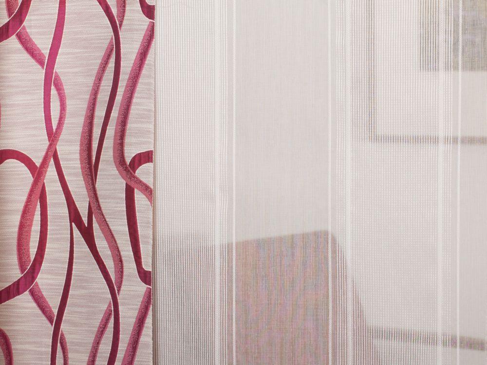 gardine l ngsstreif mit bleiband. Black Bedroom Furniture Sets. Home Design Ideas