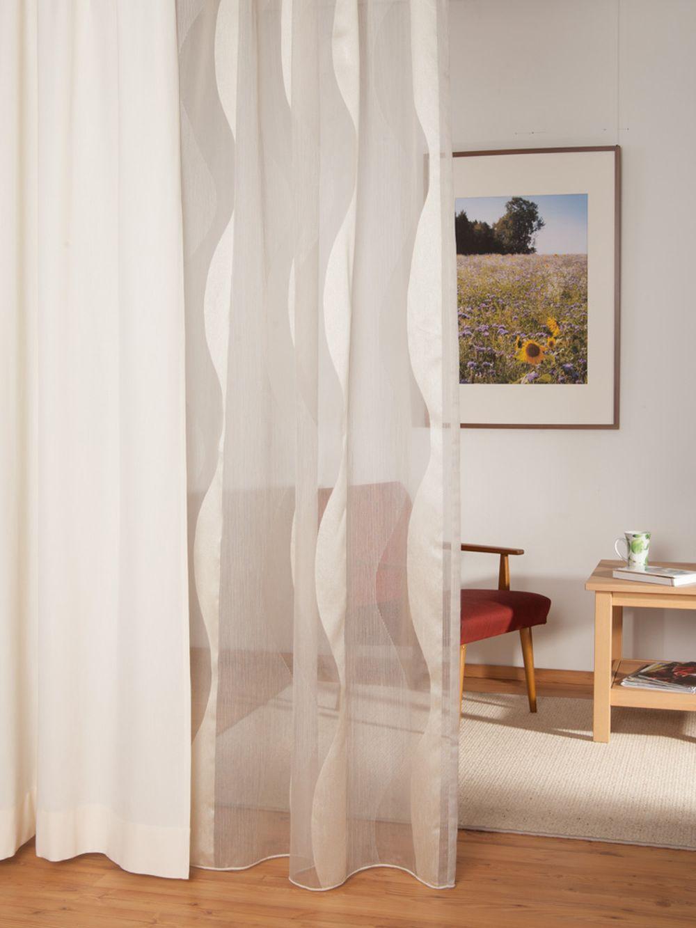gardine 1882 mit bleiband. Black Bedroom Furniture Sets. Home Design Ideas