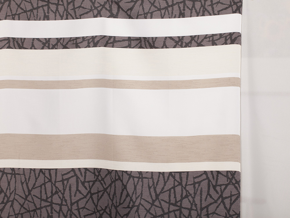 querstreif gemustert dekorstoff. Black Bedroom Furniture Sets. Home Design Ideas