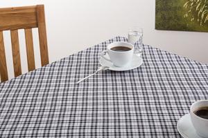 tischdecke schwarz wei kariert 140x240 cm. Black Bedroom Furniture Sets. Home Design Ideas