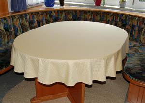 punktdamast tischtuch oval 175x240 cm. Black Bedroom Furniture Sets. Home Design Ideas