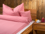 "bed linen ""Katharina squared"", made to measure - brillant-red"