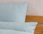 "bed linen ""Katharina squared"", made to measure turquoise"