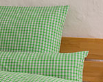 "bed linen ""Katharina squared"", made to measure - grassgreen"