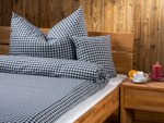 "bed linen ""Katharina squared"", made to measure - black"