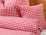 "bed linen ""Katharina squared"" pillowcase - brillant-red"