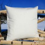 pillow case half linen 40x40 cm