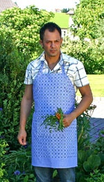 Apron Zwilch with pocket - blue