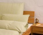 "Reversible bed linen ""Innviertler squared and striped"", made to measure - light yellow"
