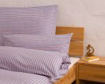 "Reversible bed linen ""Innviertler squared and striped"", made to measure - skyblue"
