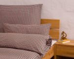 "Reversible bed linen ""Innviertler squared and striped"", made to measure - green"