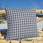 "pillow case ""Waldviertler squared"", button fastener 40x40 cm"