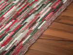 Carpet Sternstein made to measure green-red mele