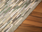 Carpet Sternstein made to measure green-yellow mele