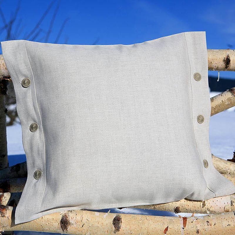 kissenbezug halbleinen mit 2 knopfleisten 40x40. Black Bedroom Furniture Sets. Home Design Ideas