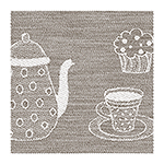 waffle towel kitchen, 45x73cm - mocca