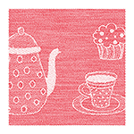 waffle towel kitchen, 45x73cm - red