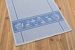 waffle towel kitchen, 45x73cm - middle blue